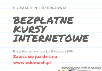 Rozpoczynamy zapisy na kursy w edycji LISTOPADOWEJ 2019!
